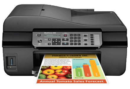 epson Workforce-435 setup driver support epsonconnect wireless