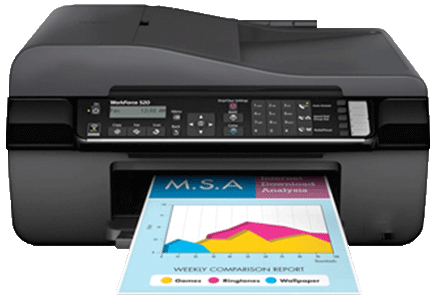 epson Workforce-520 setup driver support epsonconnect wireless