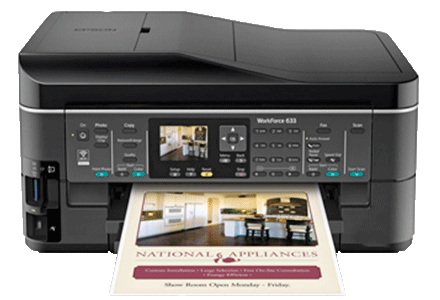 epson Workforce-633 setup driver support epsonconnect wireless