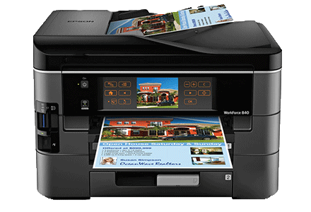 epson Workforce-840 setup driver support epsonconnect wireless