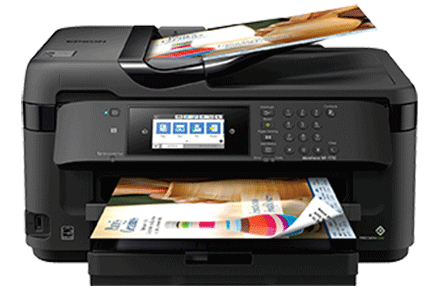 epson Workforce WF-7710 setup driver support epsonconnect wireless