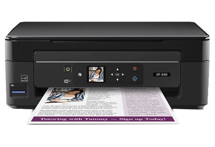 epson XP-340 setup driver support epson connect wireless