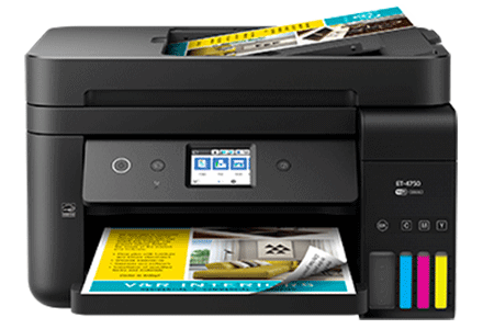 epson ET-4750 setup driver support epsonconnect wireless